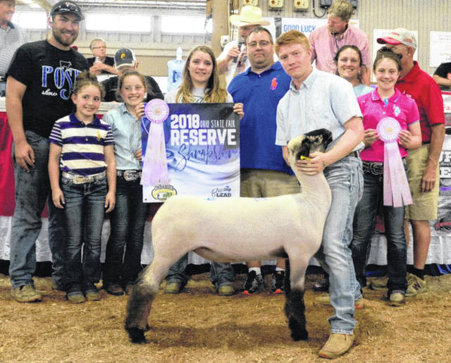 Sabina Blue Ribbon 4-H Club member Craig Schiff exhibited the Reserve Champion Shropshire Market Lamb at the 2018 Ohio State Fair. Craig's lamb sold for $1,600 at the state fair's Market Lamb Sale. Craig is a son of Mike and Katie Schiff.