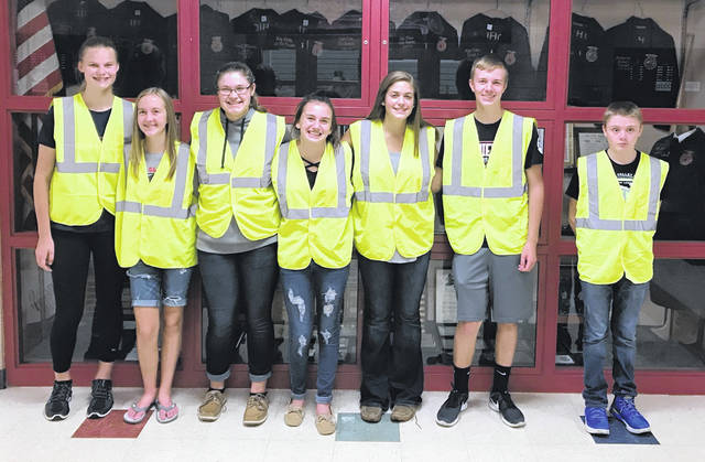 From left are Bryston Roach, Katie Carey, Anna Malone, Holly Bernard, Carter Carey and Kamrin Debored.
