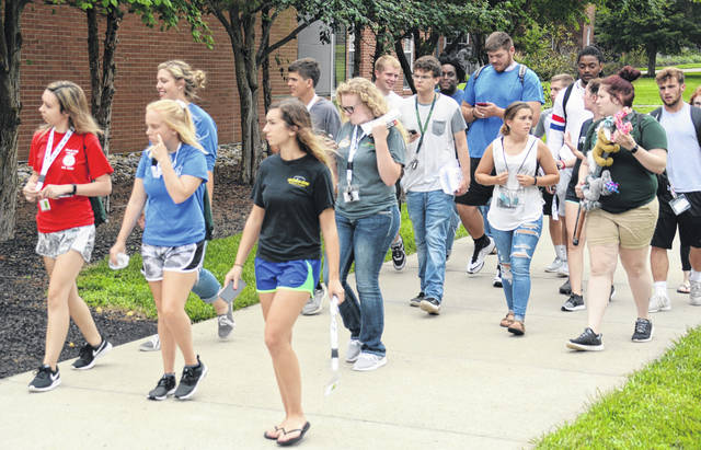Some 385 freshmen constitute a record entering class enrollment this fall at Wilmington College. The figure includes more than 50 from Clinton County.