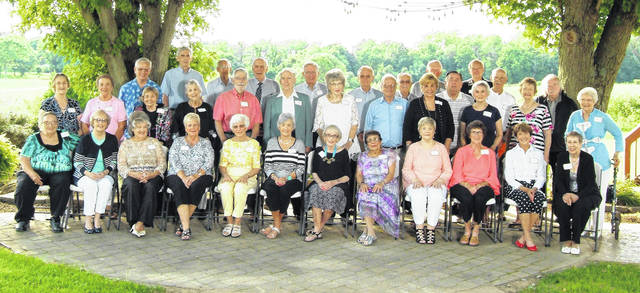 Shown is the Wilmington High School Class of 1958, which recently held its 60th reunion. In a News Journal issue last week, the story and photo appeared; however, an incorrect year of graduation was in the headline. We apologize for that error. Also, some changes need to be made to the list of names that was submitted; shown in the photo are, from left: first row, Rowena Shrack Sparks, Frankie Bashore Baker, Mona McCandless Weller, Carole Lee Marshall Kenney, Dorothy Bamber Davenport, Susan Hazard Douglass, Connie McNeil, Marilyn Fulton Pannell, Mary Helterbran White, Beverly McCollister Hayes, Bessie Zaharias Duros and Liz Grant White; second row, Linda Schrack Smith, Charlotte Nicodemus Fahrer, Linda Cammack Assad, Rita Richardson Carey, Alan Marsh, Gary Lippert, Janie Stanforth Hamm, Erick Alden, Haze Camp Day, Sandy Pidgeon Puette, Becky Vandervort Thumma and Martha Ellis Mast; and, third row, Gerry Curtis, Roger Warren, Don Osborne, Richard Day, Charles Semler, Dan Johnson, Ronnie Bobbitt, Jim Bashore, Marvin Fillam, Jerry McCune, Chuck Bashore and Bill Hansford.