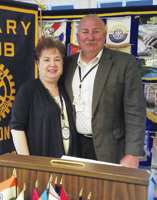 Rotary President Melissa Reeder with Wilmington Police Chief Duane Weyand.