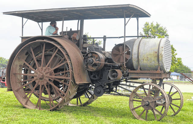 Antique farm equipment is one of many things the Corn Festival is known for, and this relic is a striking example of a farm machine that has survived from an earlier time.