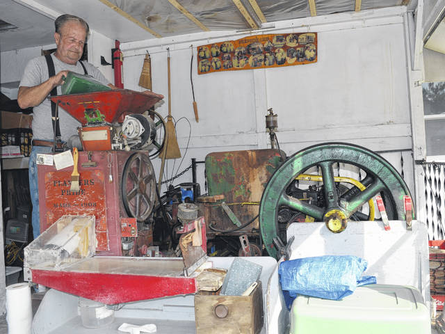 Kenneth Miller, whose family has been operating a grist mill in Crittenden, Kentucky for 103 years, will be at this weekend's Corn Festival grinding corn meal.