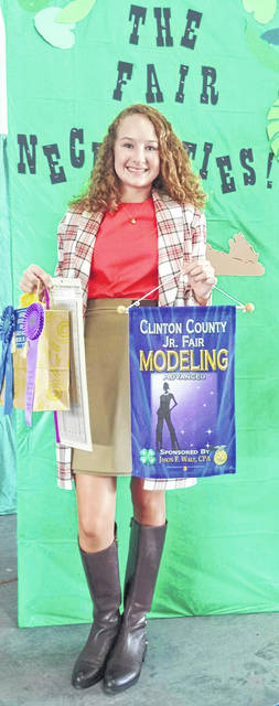 Courtney Parker of Clinton County was selected to the 2019 State 4-H Fashion Board.