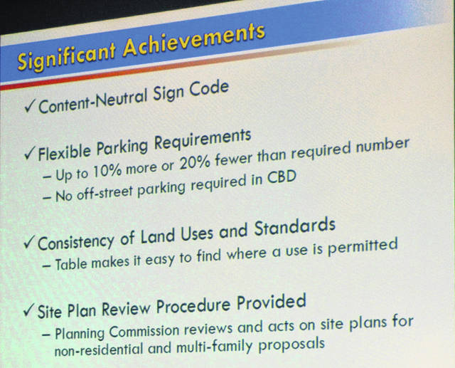 "Four things are listed as ""significant achievements"" in the proposed updated draft code."