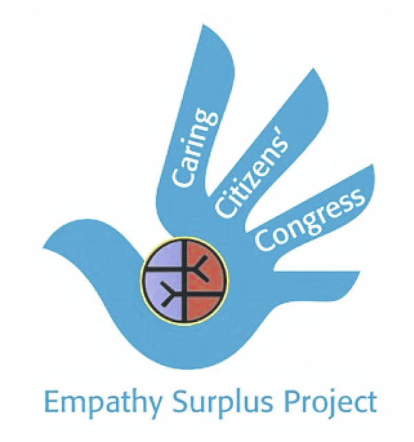 The Caring Citizens' Congress logo is made up of a combination of the Empathy Surplus Project logo and the international logo of human rights.