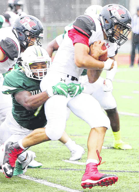 Tre'Quez Parks is the leading tackler for the Wilmington College football team this season.