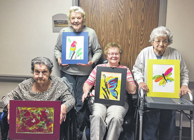 Continental Manor residents are ready to show their art works to the community on Monday.
