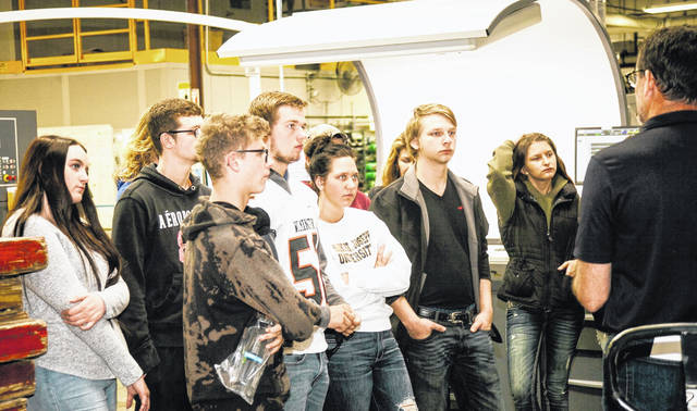 Wilmington High School students toured JBM Packaging in Lebanon.