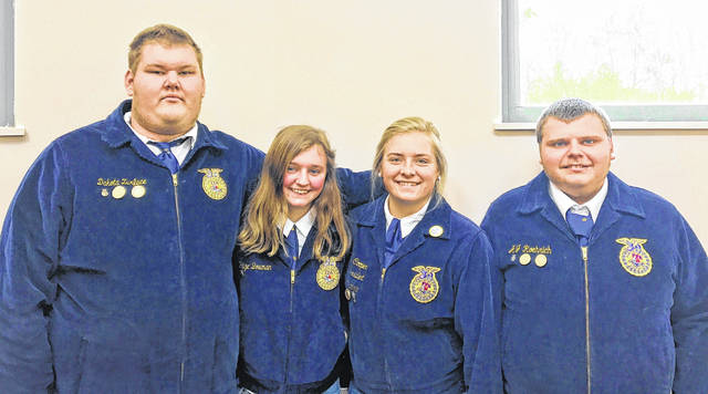 From left are Dakota Zurface, Paige Bowman, Grace Cooper and AJ Roerich.