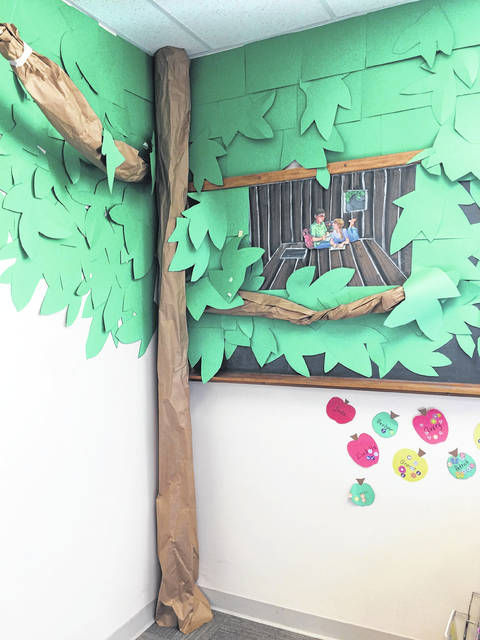 The Magic Tree House display in the children's corner of the library.