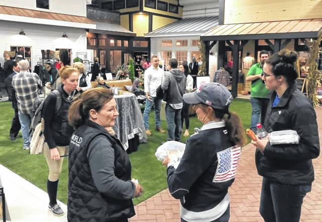 Locals recently gathered at the new Vendor Village open house at the World Equestrian Center.