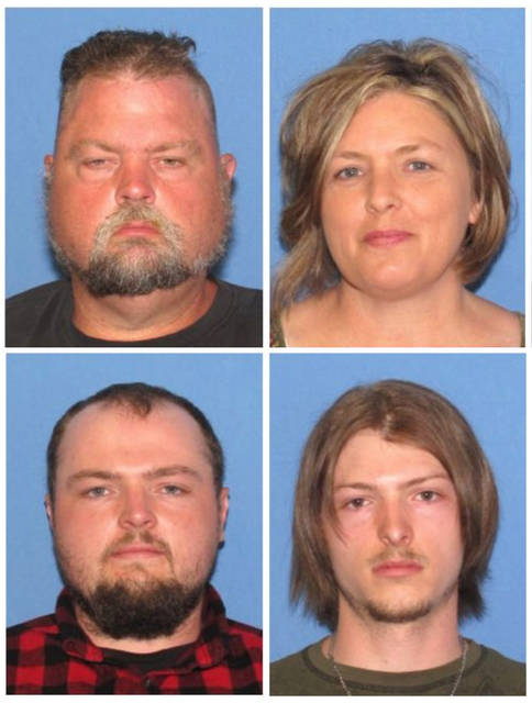 "FILE - These undated file images released by the Ohio Attorney General's office, show, top row from left, George ""Billy"" Wagner III and Angela Wagner, and bottom row from left, George Wagner IV and Edward ""Jake"" Wagner. The four members of the Wagner family have been charged in the slayings of eight members of the Rhoden family in rural Ohio two years ago. (Ohio Attorney General's office via AP, File)"
