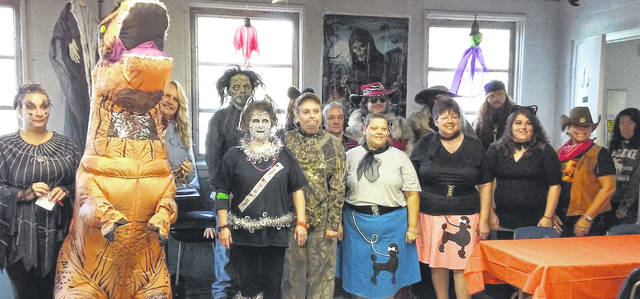 The Allen Company's Howl-O-Fest 2018 in Blanchester was a scream, so to speak. At high noon, winning recognition for the scariest costume was awarded to Nick Baker; winning for the most original costume was Lisa Alexander; for the funniest group, T-Rex (Alexis Wahl) and Judy Richardson; and winning recognition for group, Kyle Garrison and Josh Grant. Diana Miller and Brenda Kingsland won recognition in write-in categories.