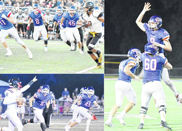 Clinton-Massie begins its quest for another state championship at 7 p.m. Saturday at Frank M. Irelan Field in the opening round of the OHSAA Div. IV playoffs against Springfield Shawnee. In the photos, clockwise from top left, Tate Olberding (11), Brice Seaman (8), Spencer Branham (51), Brock Speaks (45), Colton Doyle (44), Thomas Myers (9), Seth Stiverson (60), Brock Speaks (45) and Spencer Branham (51).