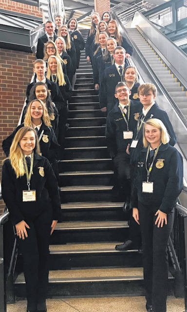 Members of the Blanchester FFA attended the national convention in Indianapolis.
