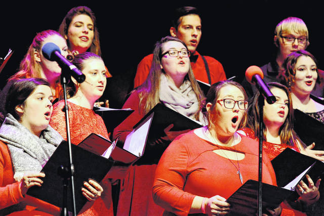Members of the WC Chorale perform at last year's Winter Holiday Concert.