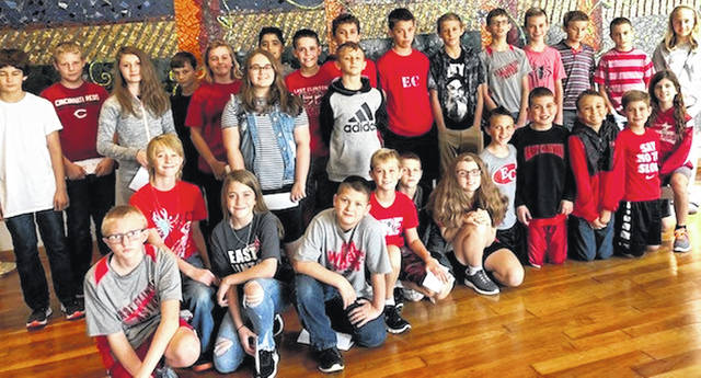 These sixth-grade students represented East Clinton Middle School at an Academic Quiz Bowl Tournament.