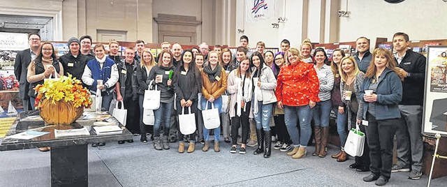 Both the adults and youths of Leadership Clinton's Class of '19 stopped by the Clinton County Convention and Visitors Bureau.