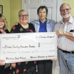 Modern Woodmen present check to shelter