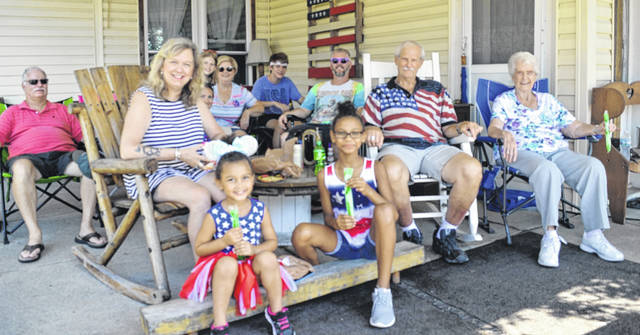 A big crowd braved the scorching heat on July 4th for the annual Red White and Blanchester Blue fest.