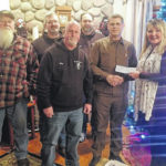 Blan Eagles donate to Legion Auxiliary for military banners