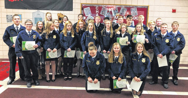 Members of the East Clinton FFA received their Greenhand Degrees.