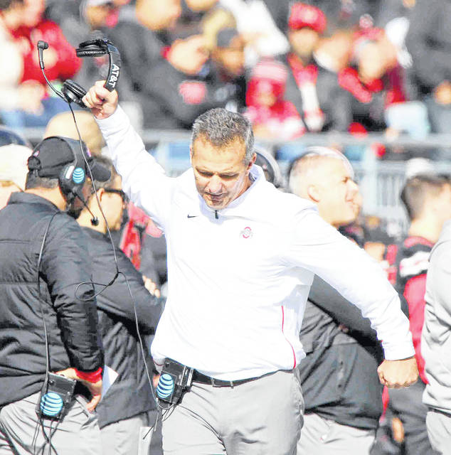 Ohio State head coach Urban Meyer is angered during a game earlier this season against Nebraska at Ohio Stadium.
