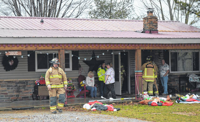 No injuries are reported in a Greene Road house fire Monday afternoon north of Martinsville. The Martinsville/Clark Township Fire Department and the Clark Township Life Squad responded to the scene. Further details were not immediately available at the scene where firefighters tended to their work.