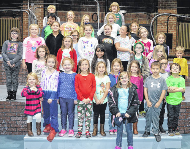 Here are many of the Murphy Kids, who have a featured part in the annual Christmas show at the Murphy Theatre, where all new seats were installed this summer.