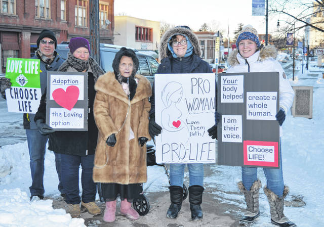 Several people went ahead Monday with the annual March for Life on courthouse square in Wilmington despite the event being canceled due to the frigid weather. The event is in conjunction with the 1973 Roe v. Wade ruling by the U.S. Supreme Court regarding abortion.