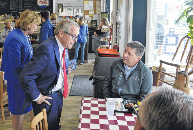 Republican and then-candidate Mike DeWine and his wife, Fran, made a campaign stop on Oct. 12 at Sams Meats in Wilmington. Mike DeWine will be sworn in as Ohio's governor next week.