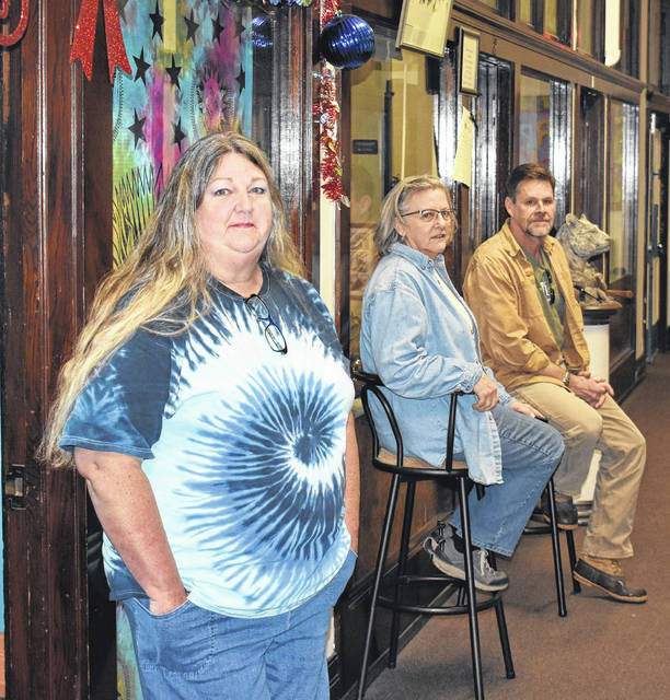 From left, Jennifer Steele, Maggie Vance and Jeff Becker are three of the artists who have a studio on West Main Street in Wilmington's historic downtown.