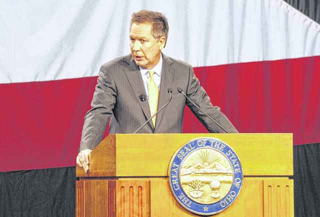 Outgoing Ohio Gov. John Kasich held the 2015 State of the State address at the Roberts Centre in Wilmington.