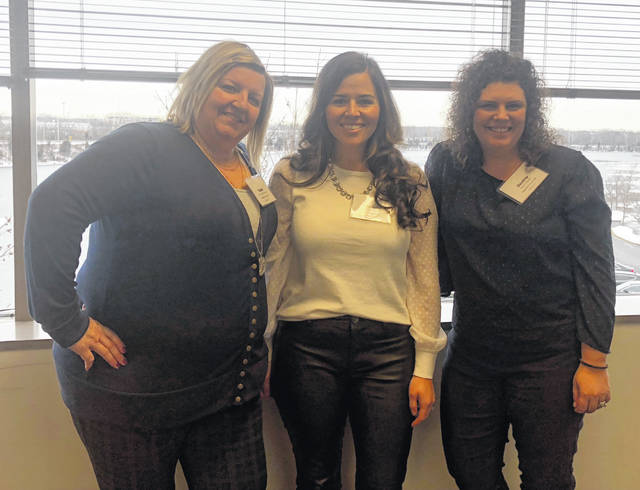 From left are Susan Valentine-Scott, Stephanie Dunham and Destiny Bryson.