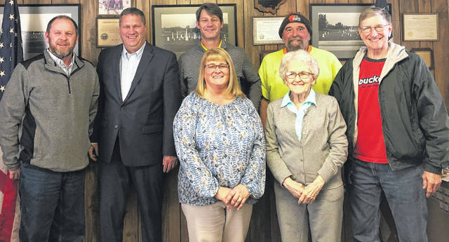 The Clinton County commissioners are going to continue visiting township trustee and village council meetings throughout 2019. This ongoing practice is an attempt by commissioners to keep closer tabs with the townships and villages in Clinton County, while also providing residents an opportunity to see commissioners in their own part of the county and at times that differ from the twice-weekly commissioners meetings in the courthouse. On Jan. 24 commissioners attended the meeting of the Richland Township Board of Trustees. From left in the front row are Clinton County Commissioners President Brenda K. Woods and Richland Township Fiscal Officer Shirley Rittenhouse; and from left in the back row are Trustee Bob Hazelbaker, Commissioners Mike McCarty and Kerry R. Steed, and Trustees Rick Grove and Ken Fliehman. Commissioners plan to join Marion Township trustees at 7 p.m. Wednesday, Feb. 6 in the Marion Township Meeting House, and to join Liberty Township trustees at 7:30 a.m. Wednesday, Feb. 27 in the Liberty Township Meeting House.