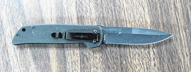 Police say the suspect in one incident was concealing this knife.