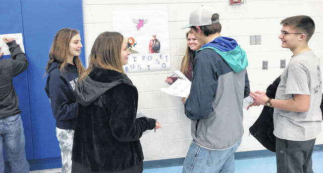 The Blanchester FFA recently held its first chapter leadership night.
