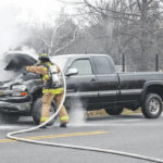 Truck fire extinguished