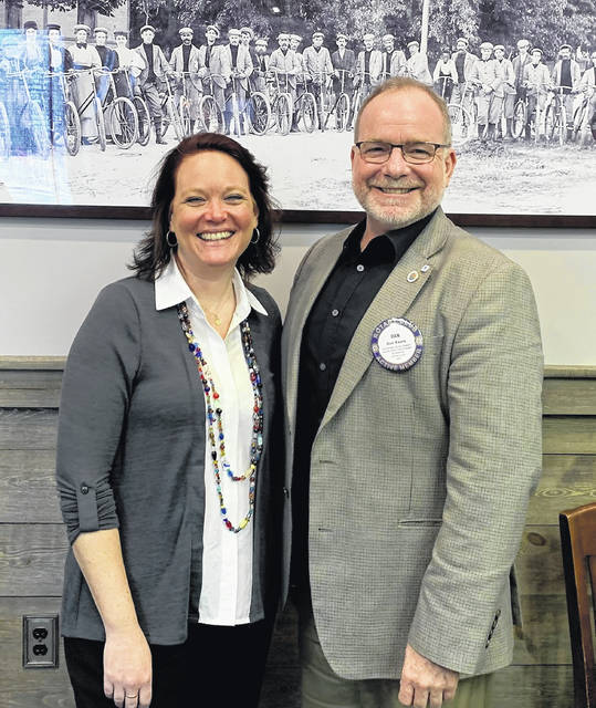 Ruth Brindle, Director of Main Street Wilmington, and Dan Evers, President of the Wilmington Rotary Club.