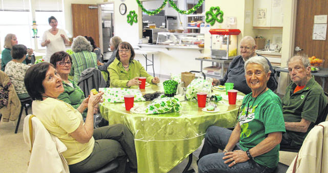 The Wilmington Savings Bank Clinton County Senior Center held its annual St. Patrick's Day Fundraiser on March 14. Staff also visited residents at Wilmington Nursing and Rehabilitation Facility and the Leprechaun made an appearance to pass out St. Patrick's treats to all residents and staff.