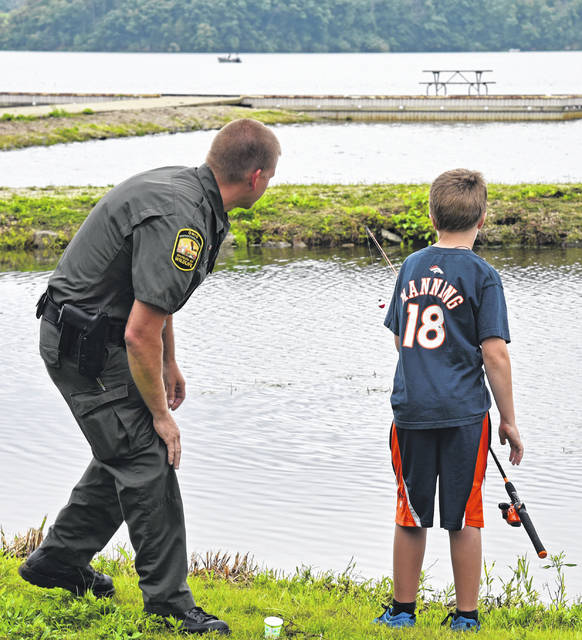 The ODNR is working to enhance the fishing experience for youths at Cowan Lake.