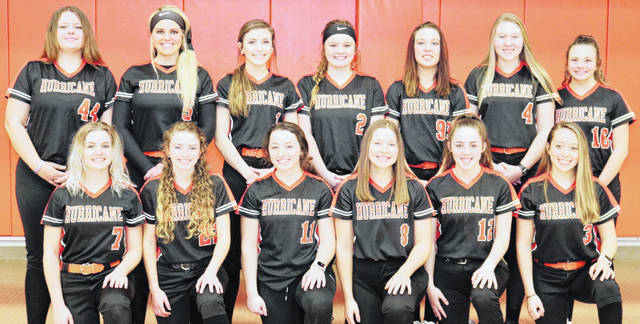 The Wilmington High School softball team, from left to right, front row, Sophie Blessing, Alix South, Harlie Bickett, Jena Rhoads, Logan Osborne, Emily Spendlove; back row, Kelsey Sprowle, Olivia Veidt, Emily Self, Grace Brown, Kendra McKenna, Madison Flint, Hannah Gordon.