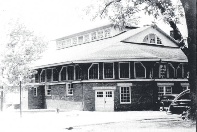 The old Wilmington College gymnasium. Besides the Quakers' games, many high school games were played there.