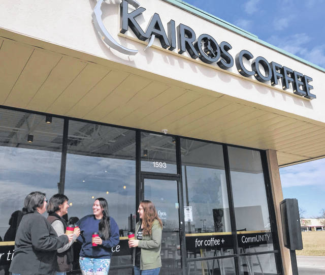 Kairos Coffee on Rombach Avenue features the convenience of a drive-thru.