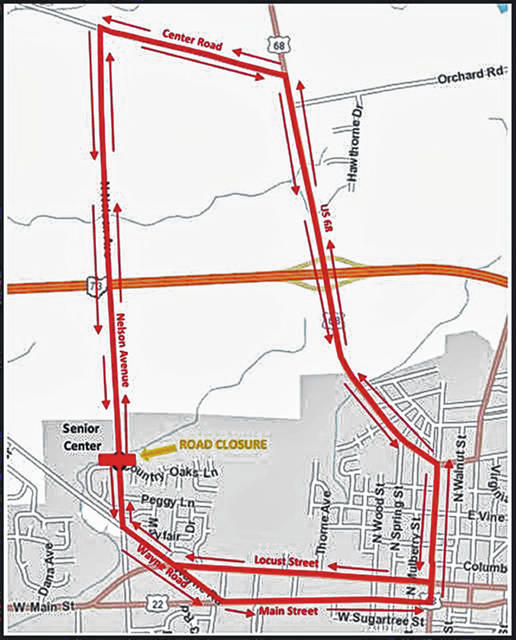 The city's updated detour map for the North Nelson Avenue closure.