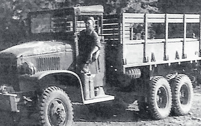 Lawson Adkins trucked supplies from the beaches of Normandy, France to the Battle of the Bulge.