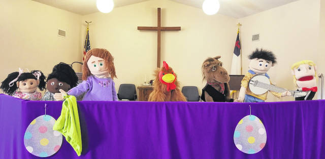 The popular puppet program returns to New Vienna Community Church, along with an Easter egg hunt, on April 20.