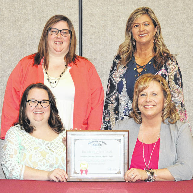 Southern Ohio ESC Treasurer Rachel Meyer (bottom right) and Fiscal Department Employees Megan Thompson (bottom left), Amanda Ely (top left) and Rhonda Cochran (top right).