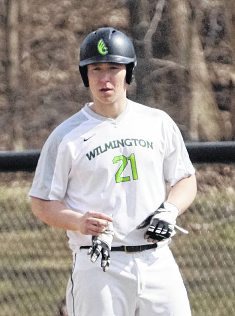 Gage Bley had a big second game at the plate for the Wilmington College baseball team.